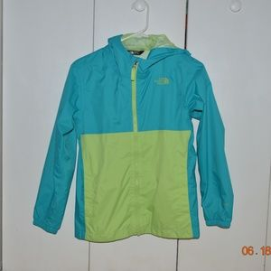 Turqoise and Lime Green Windbreaker Rain Jacket